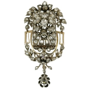 Victorian rose cut diamond pendant