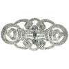 Platinum Art Deco brooch from the Fifties fully set with almost 6 carat diamonds