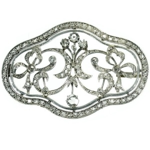Antique Victorian brooch with rose cut diamonds
