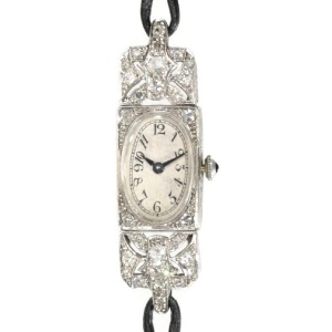 French Art Deco diamond ladies watch