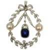 Belle Epoque diamond pearl and sapphire pendant
