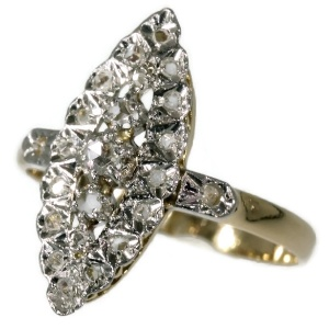 French estate diamond ring