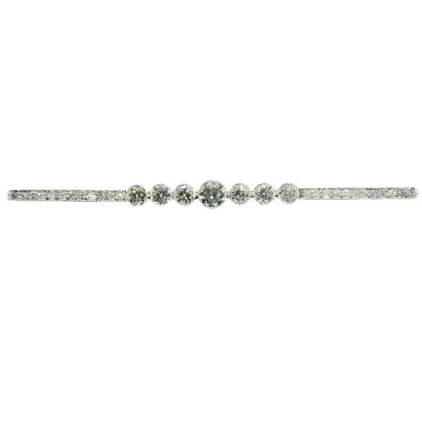 Estate diamond bar brooch