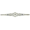Art Deco diamond and sapphire bar brooch