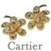 Cartier signed gold earclips vintage