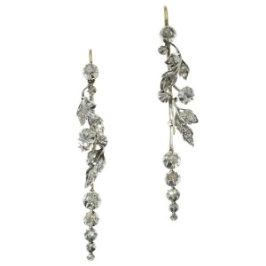 Victorian antique chandelier diamond earrings