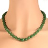 Certified top quality natural jadeite necklace of 53 beads (67,51 grams) - A-Jade, translucent, mottled light green and green