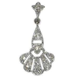 Platinum Art Deco diamond pendant