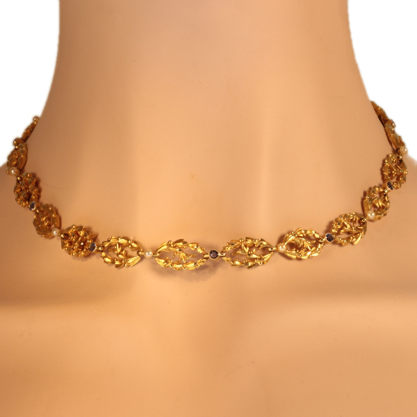Antique Victorian gold bracelets that can be worn as necklace too