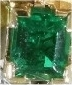 Typical vintage Retro bow brooch with 3.30 crt diamonds and top quality emerald