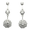 Glimmering diamond estate ear pendants