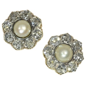 Antique Victorian diamond ear studs