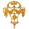 French gold brooch pendant Late Victorian Belle Epoque Style Guirlande