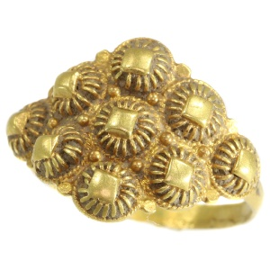 Dutch gold antique ring from Schoonhoven 18th Century