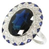 The ultimate Art Deco diamond and sapphire engagement ring model Lady Di