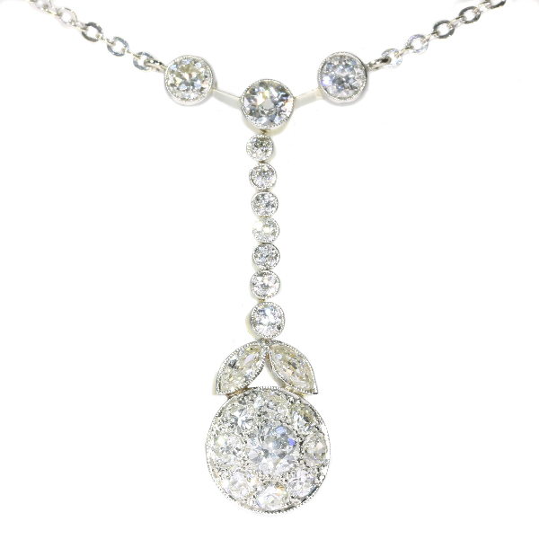 French Art Deco diamond pendant