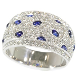 Vintage diamond and sapphire ring top quality