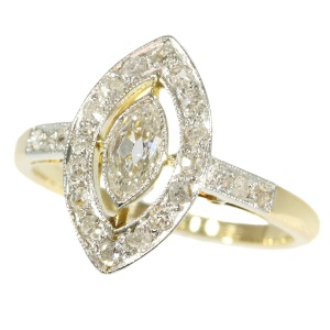 Antique diamoind engagement ring period Belle Epoque