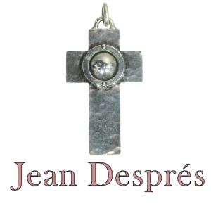 French designer Jean Després signed silver cross
