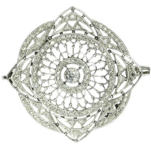 Antique platinum Edwardian diamond brooch