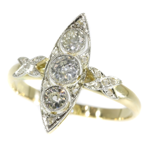 Antique diamond ring from the Belle Epoque era
