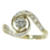 Belle Epoque diamond engagement ring so called tourbillon model or twister
