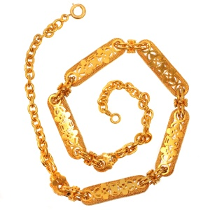 High quality Victorian antique yellow gold watch chain can be worn as necklace
