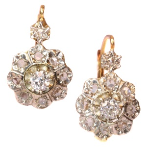Vintage Deco Diamond Earrings