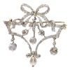Belle Epoque Brooch In Guirlande Style With Diamonds And Pearl
