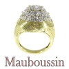 French Vintage Fifties diamond cluster ring by Mauboussin Paris