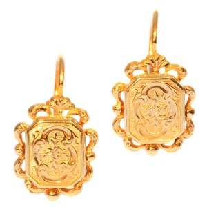 French antique gold earrings
