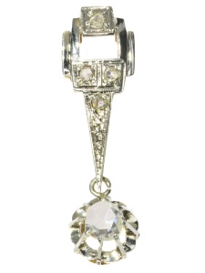 Bicolored Art Deco diamond pendant - anno 1920
