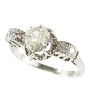 Gorgeous diamond (1,34crt) engagement ring - anno 1930