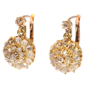 Antique gold vintage diamond earrings