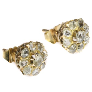 Antique vintage diamond Victorian ear studs