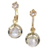 Large rose cut diamond Art Deco earrings