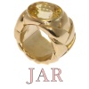 Signed JAR ring with 10+crt yellow sapphire