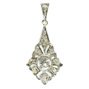 Diamond Art Deco pendant