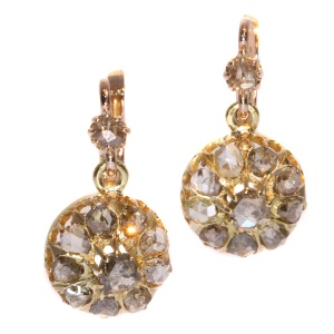 Antique vintage diamond earrings