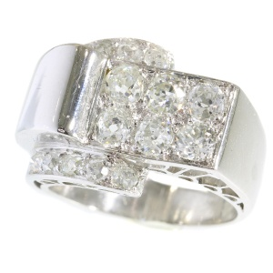 Gorgeous Art Deco / Interbellum platinum diamond ring