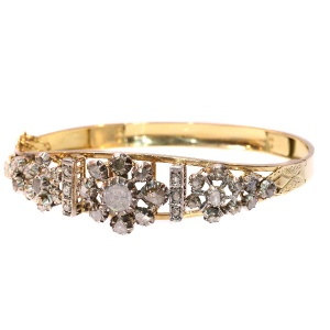 Late Victorian diamond bracelet.