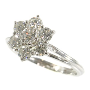 Stunning diamond white gold engagement ring from the seventies