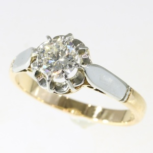 Amazing Fifties diamond engagement ring a so called solitair