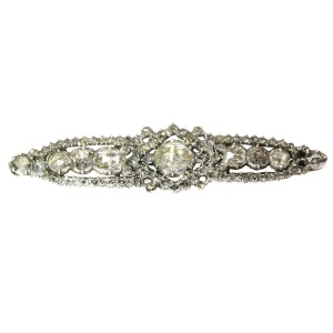Antique rose cut diamond bar brooch