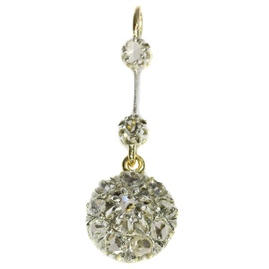 Victorian gold backed silver diamond pendant (ca. 1880)
