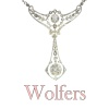 Belle Epoque multi use diamond necklace and pendant made by Wolfers for noble family