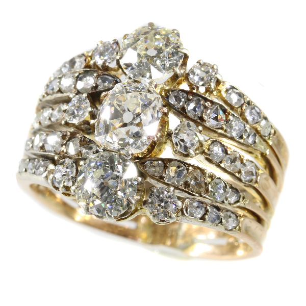 Astounding Victorian diamond ring