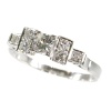 Vintage platinum Art Deco diamond engagement ring