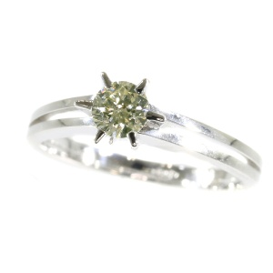 Vintage white gold Seventies diamond engagement ring