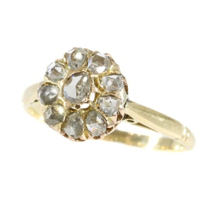 Victorian rose cut diamonds ring